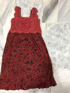 FREE POSTAGE Baby Girl Crochet Batik Dress