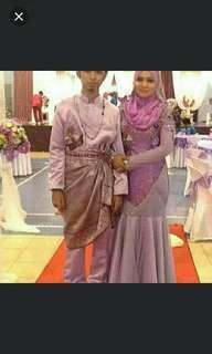 Sepasang baju pengantin.l&p