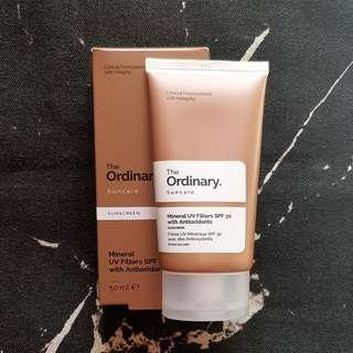 The Ordinary Mineral UV Filter SPF3P with Antioxidants Sunscreen