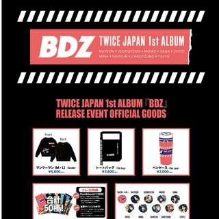 [GO] TWICE BDZ Release Event Official Goods