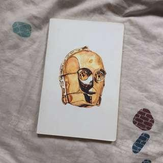 Watercolor Sketchbook PEPA C-3PO by Nugraha Pratama
