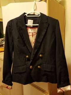 90% new pageboy navy blue 英倫 西裝外套