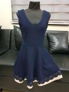 Korean V-Neck A-Line Dress