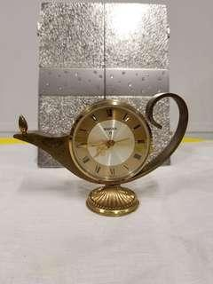 古老 瑞士 Swiza 8天 阿拉丁神燈鬧鐘 Vintage Swiza 8 Swiss Made Brass Aladdin Lamp / Oil Lamp-Shaped Clock