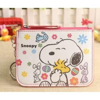 Snoopy Easter Ezlink Card Holder Coin Purse Keychain
