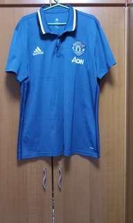 Man Utd Adidas Polo T-Shirt