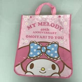 My Melody 40周年 手提背包兩用 環保袋 / 習作袋