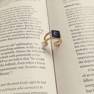 🚚 超美的方形寶石戒指