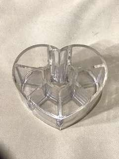 Heart Acrylic Brush/Accessories Holder