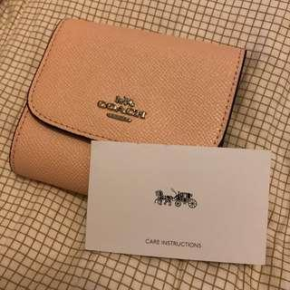 Coach outlet mini wallet 櫻花粉