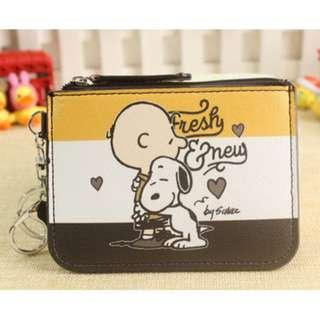 Snoopy Charlie Brown Ezlink Card Holder Coin Purse