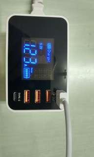 無線充電器+3USB+1QC3.0+1Type-c