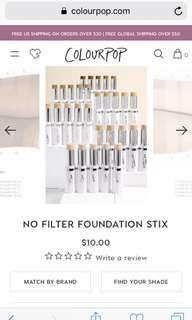 Colourpop No Filter Foundation Stick