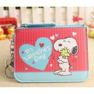 Valentine's Day Snoopy Ezlink Card Holder with Coin Purse