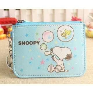 Snoopy Blowing Bubbles Ezlink Card Holder with Coin purse