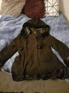 Authentic Hell Bunny Pin Up Winter Coat