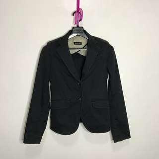 Massimo Dutti Denim-Like Fabric Coat