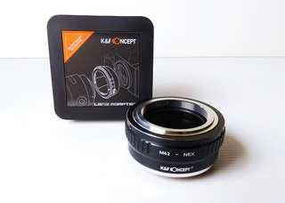 M42 to NEX E-mount adapter.. K&F CONCEPT