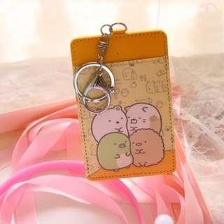 Yellow Background Sumikko Gurashi Ezlink Card Holder Keychain