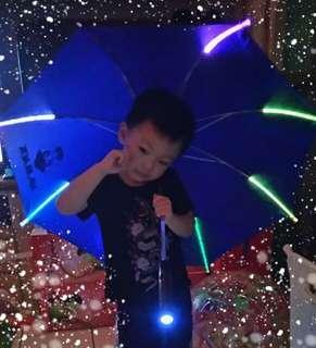 發光雨傘 LED燈雨傘 兒童安全雨傘