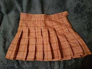 Cute Pink Pleated Skirt
