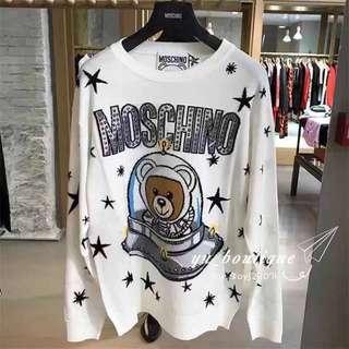 Moschino太空熊針織毛衣 黑白兩色