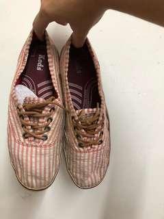 🚚 Keds紅白條紋鞋