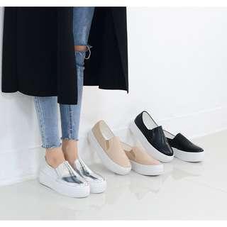 🚚 韓國銀色厚底鞋