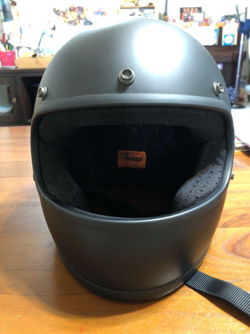 美國 Biltwell 消光黑復古全罩安全帽 樂高帽 XL