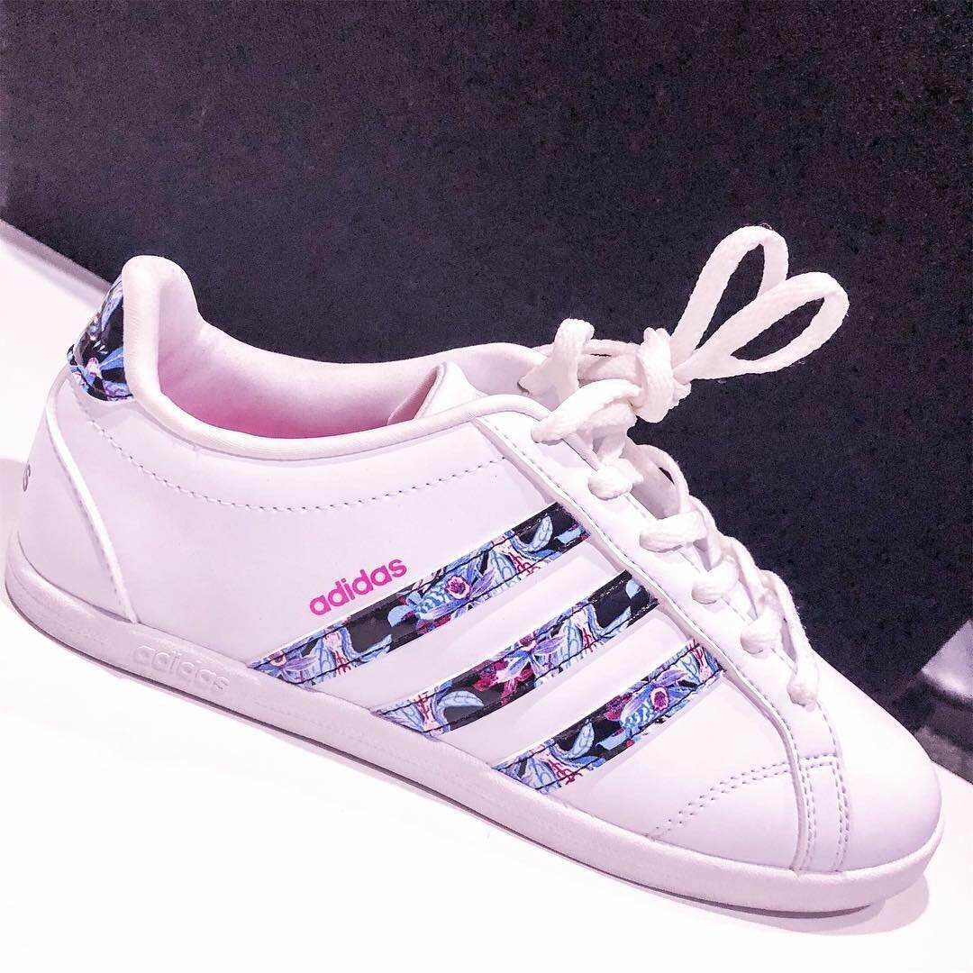 buy online 2f7a8 6ffe5 ireland adidas neo white floral size 5 w free shoe lace from cotton on  womens fashion