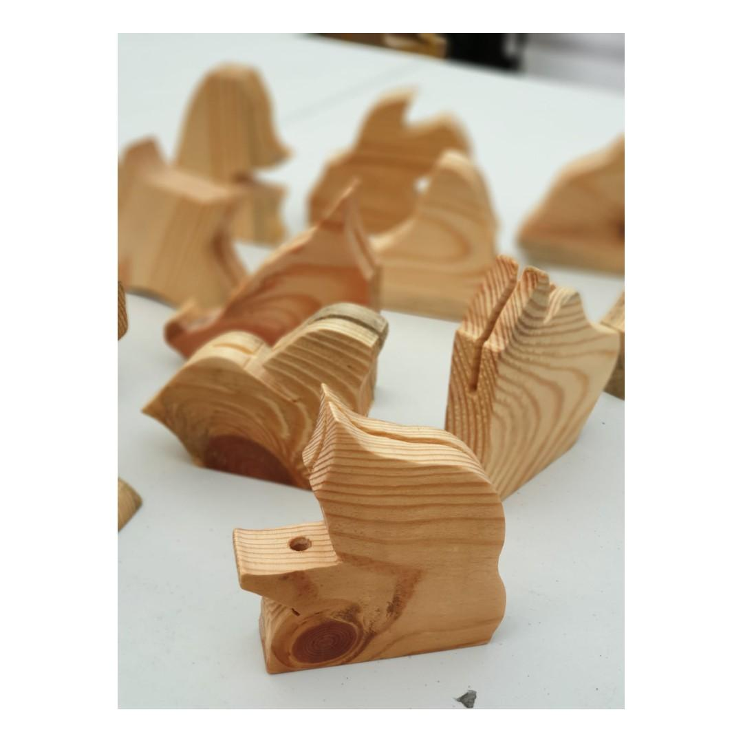 Animal and abstract shape photo/pencil holder