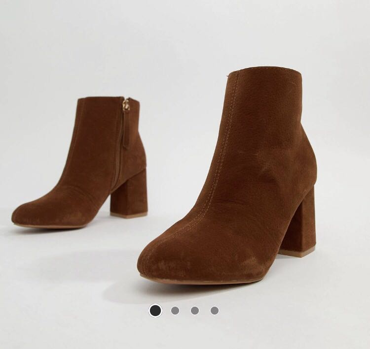 f11279f393a ASOS brown suede beacon zip ankle boots