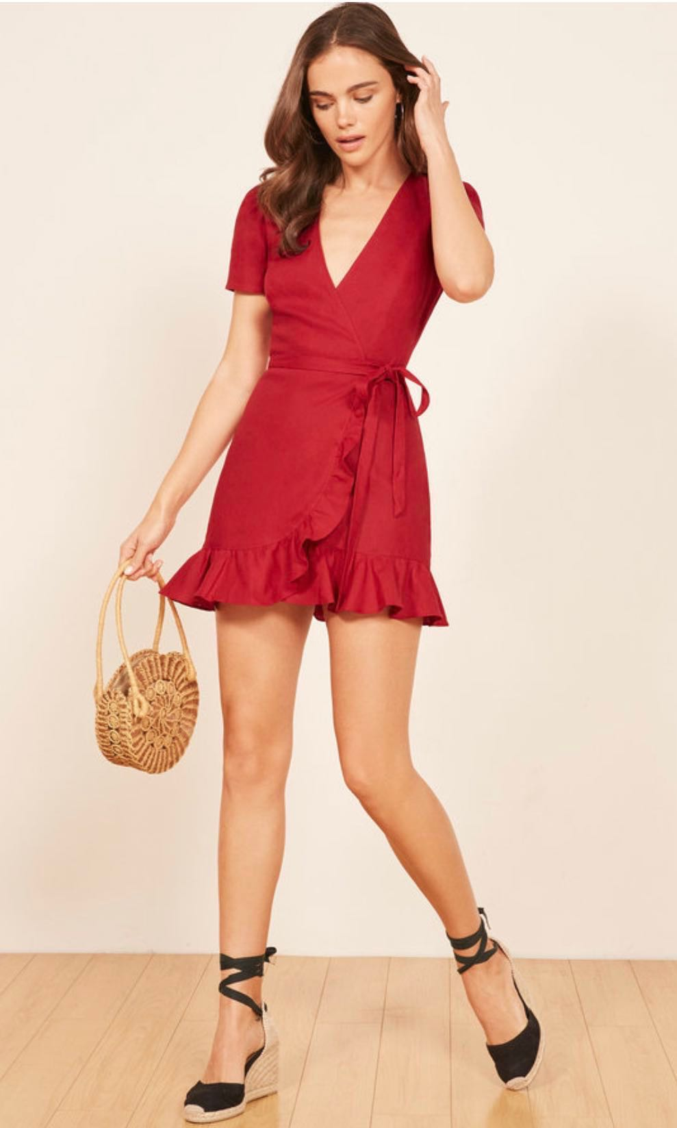 39dccca1185 Authentic Reformation Sally Dress in Cherry