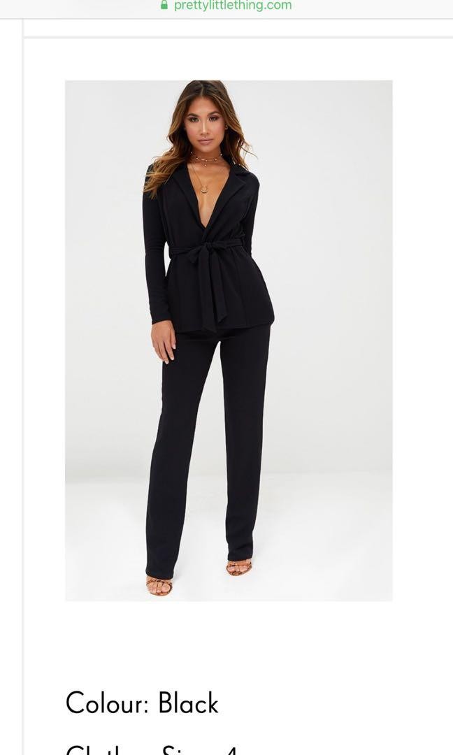 Blazer top and straight trousers