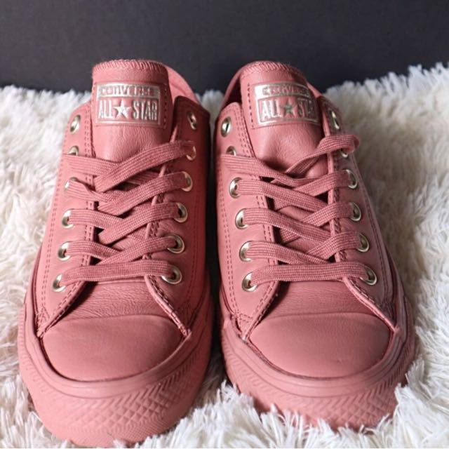 25893f813e3f BN All Star Low Leather Desert Sand Light Gold Exclusive Converse ...