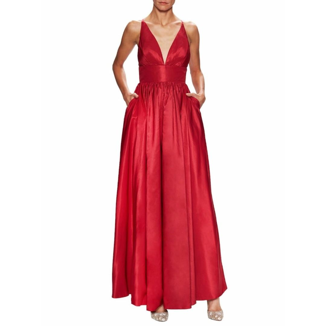 BNWT FAME & PARTNERS RED ASTRID DRESS - SIZE AU/UK 10 RRP $299