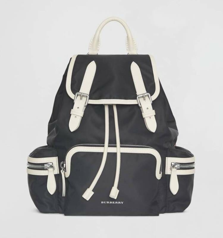 90636a1ad449 Burberry the Medium Rucksack in Technical Nylon and Leather
