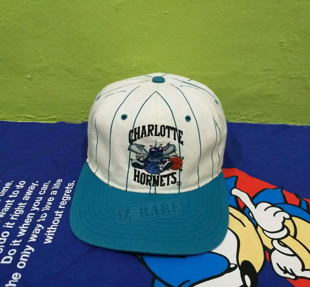 new arrival 0b151 e4196 CAP HAT VINTAGE 90s NBA CHARLOTTE HORNETS x STARTER, Men s Fashion,  Accessories, Caps   Hats on Carousell