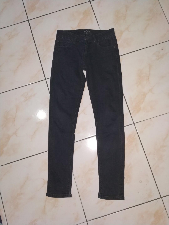 celana panjang jeans denim bershka original skinny fit