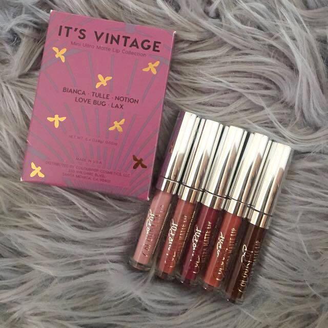Colour pop mini liquid lipstick set