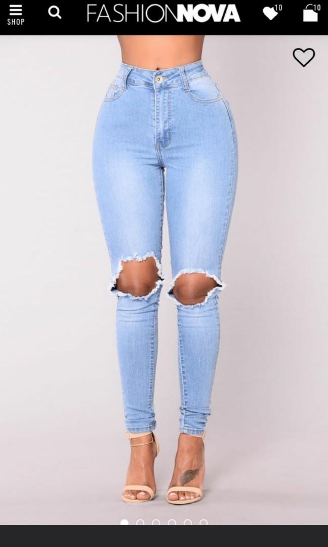 3b456e8975ef3 Fashion nova high waisted B.O.B ripped jeans 💓, Women's Fashion, Clothes,  Pants, Jeans & Shorts on Carousell