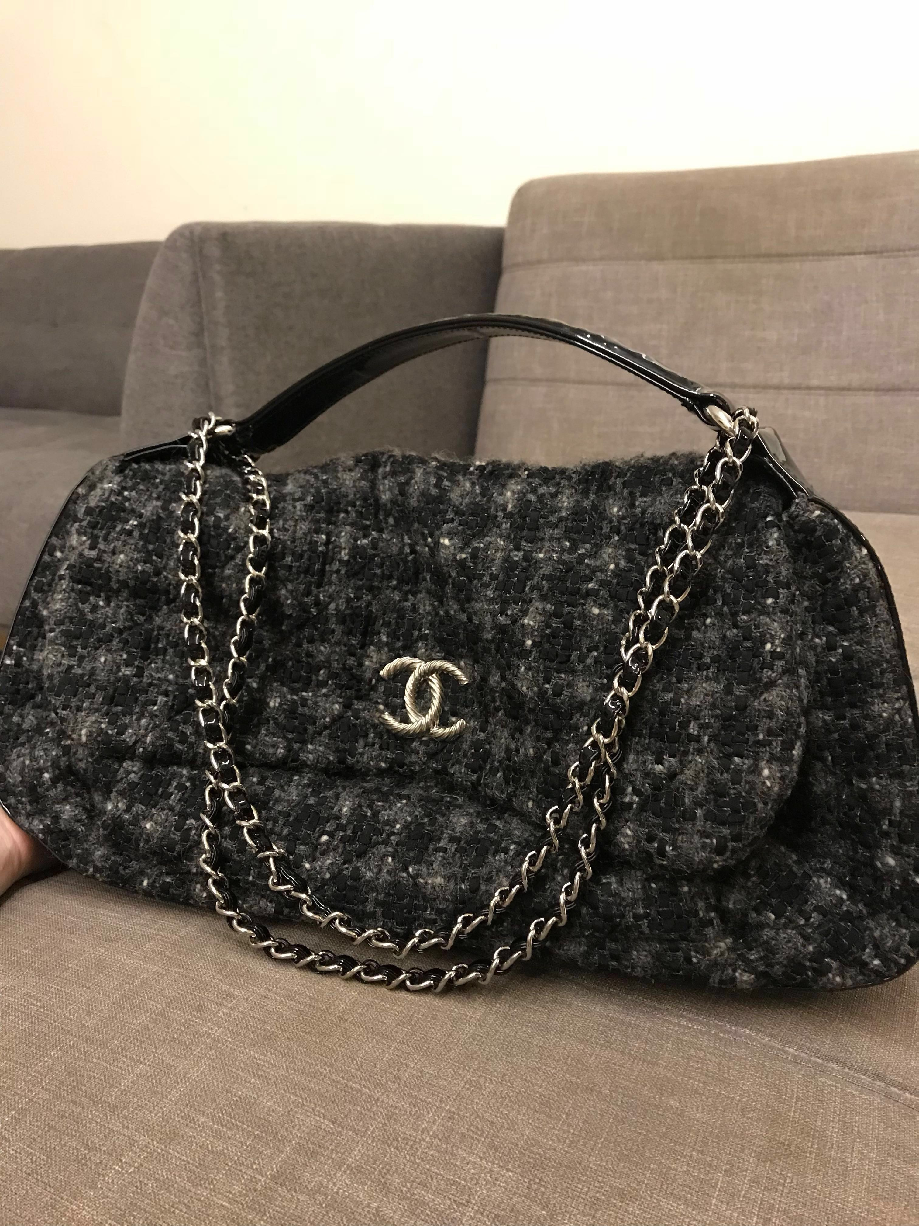 6a2db19d9ebd FREE CHANEL Bag Charm with Tweed Hobo, Women's Fashion, Bags & Wallets,  Handbags on Carousell