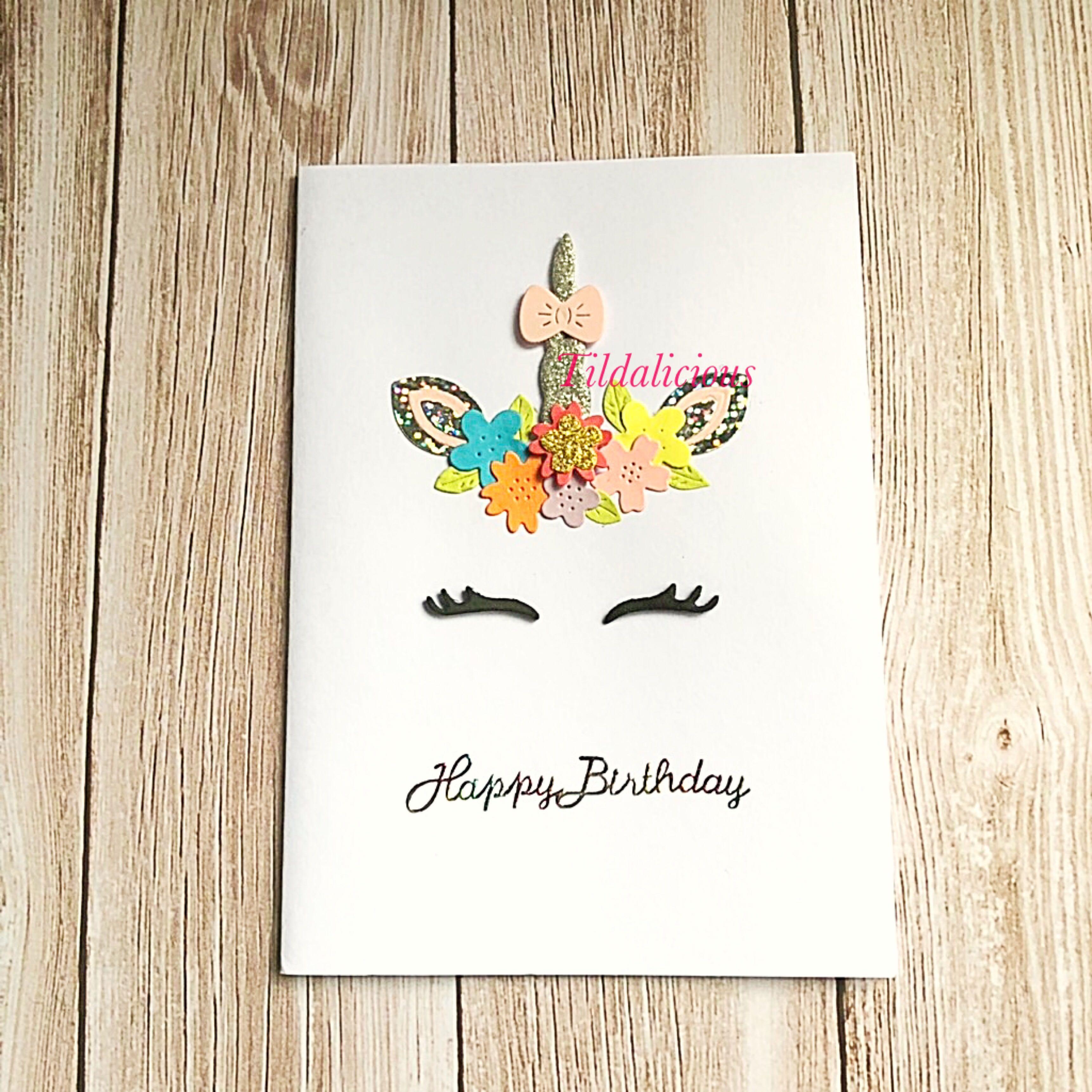 Handmade Unicorn Birthday Card Design Craft On