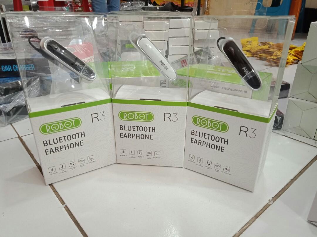 Headset Bluetooth Robot R3 Telepon Seluler Tablet Aksesoris Tablet Handphone Aksesoris Ponsel Di Carousell