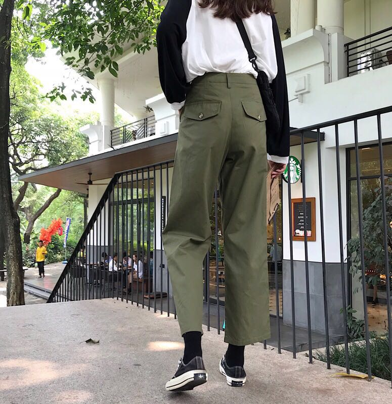 c0fa6d5b High Waisted Cargo Pants, Women's Fashion, Clothes, Pants, Jeans ...