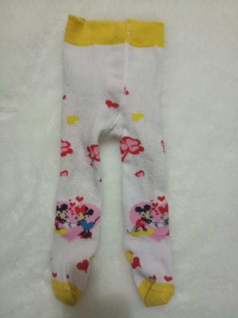 Legging Bayi Cotton Rich Tutup Kaki Leging Minnie Mickey Mouse Babies Kids Babies Apparel On Carousell