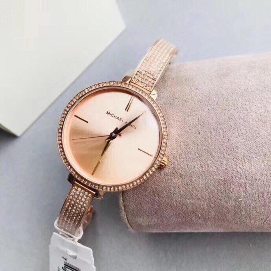 Michael Kors Jaryn Rose Dial Rose Gold Tone Women S Watch Mk3785