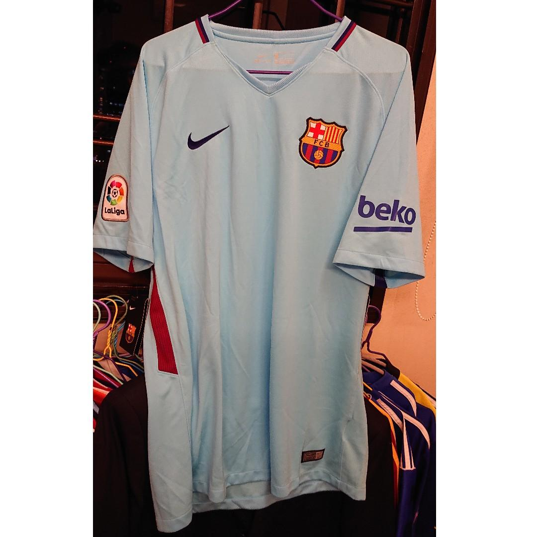 release date: 3183e 54c43 Nike Barcelona 3rd Away Shirt 2017 2018 Jersey (without ...