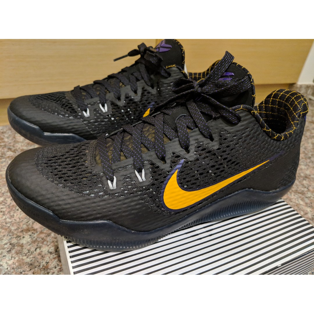 03f4e2cae29 Nike Kobe XI Carpe Diem Black White-Court Purple-University Gold US ...