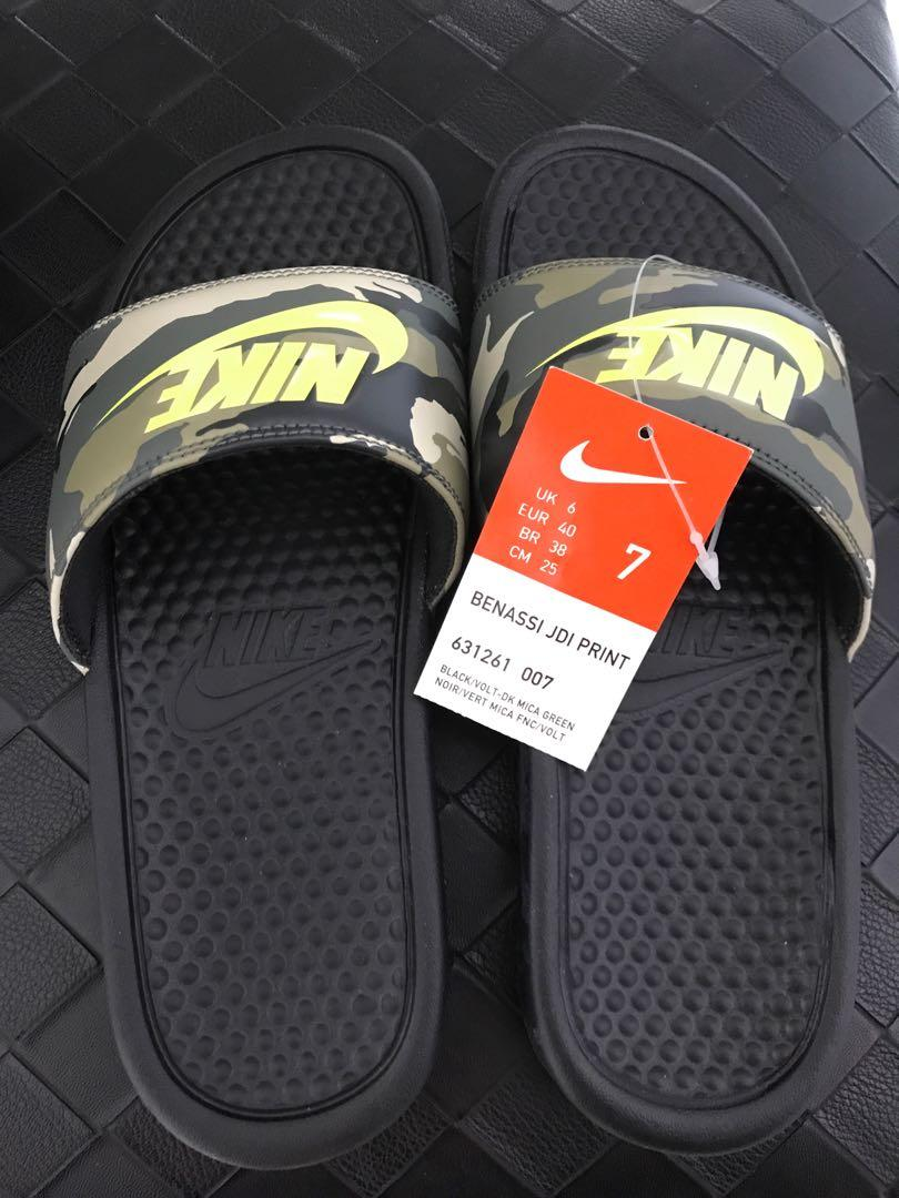 more photos e8b48 06b9a Nike Slippers Benassi JDI Print, Men's Fashion, Footwear ...